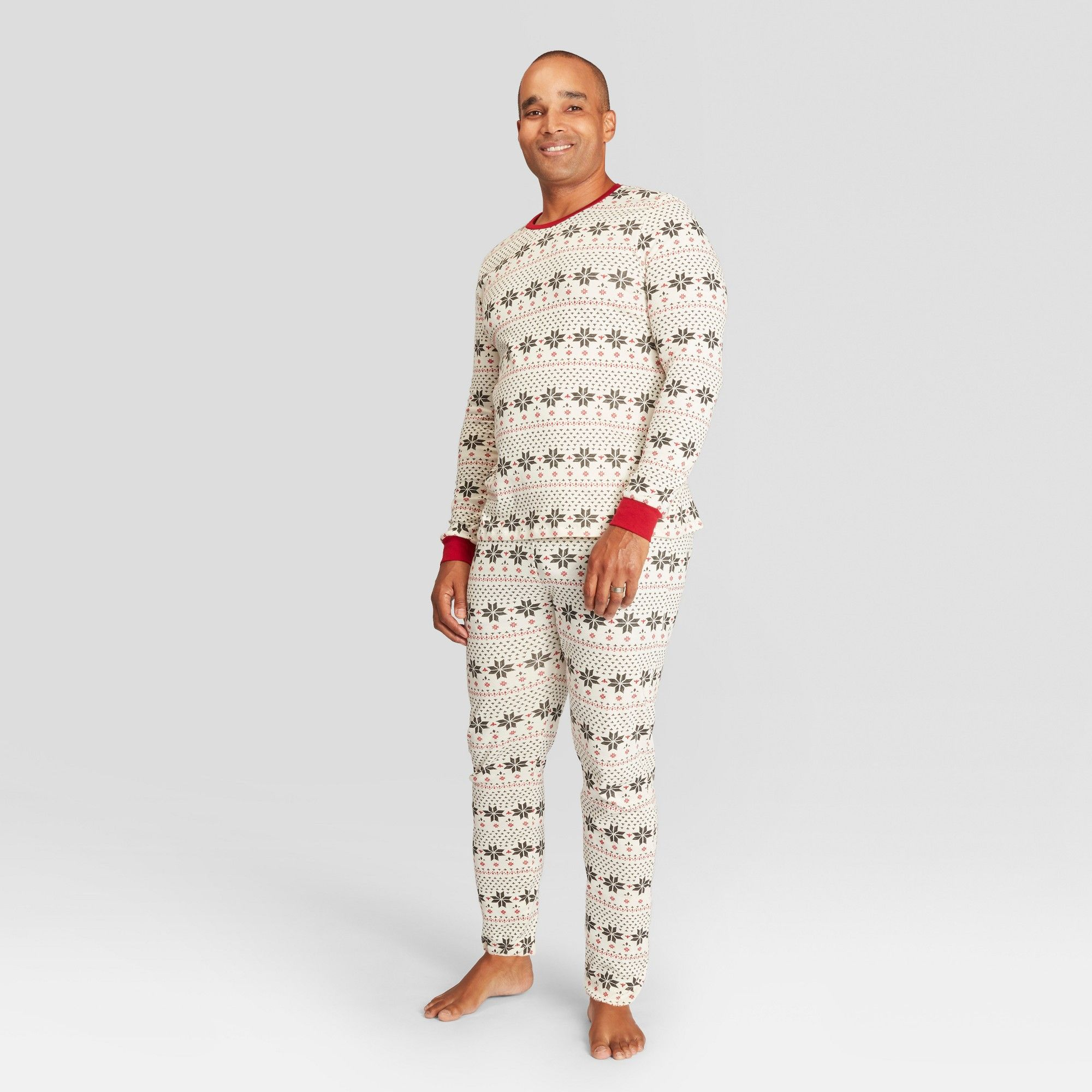 Burt's Bees Baby Men's Holiday Snowflake Pajama Set