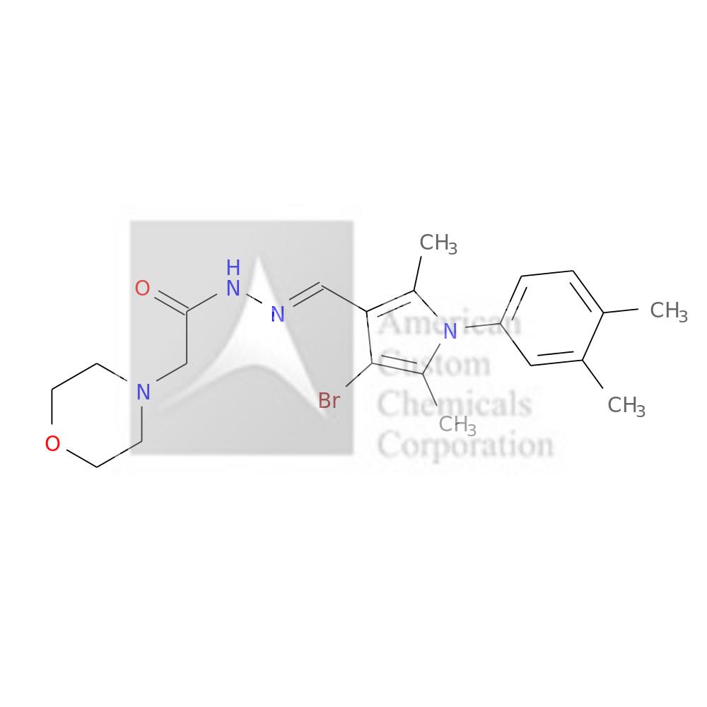 N-[(E)-[4-BROMO-1-(3,4-DIMETHYLPHENYL)-2,5-DIMETHYLPYRROL-3-YL]METHYLIDENEAMINO]-2-MORPHOLIN-4-YLACETAMIDE is now  available at ACC Corporation