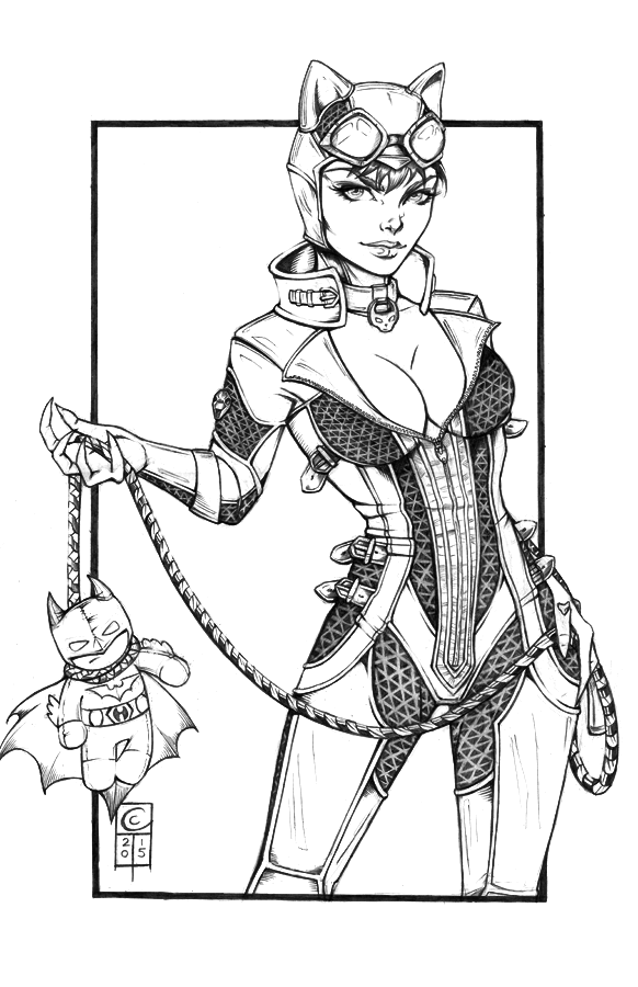 Arkham Catwoman Pencils by ColletteTurner on DeviantArt | Heroes ...