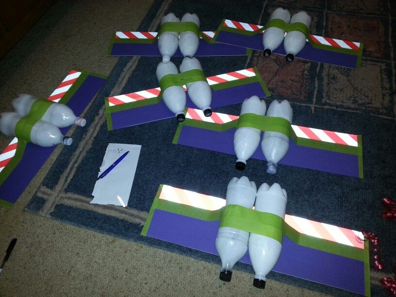 Buzz Lightyear Wings Recycled Soft Drink Bottles Spray