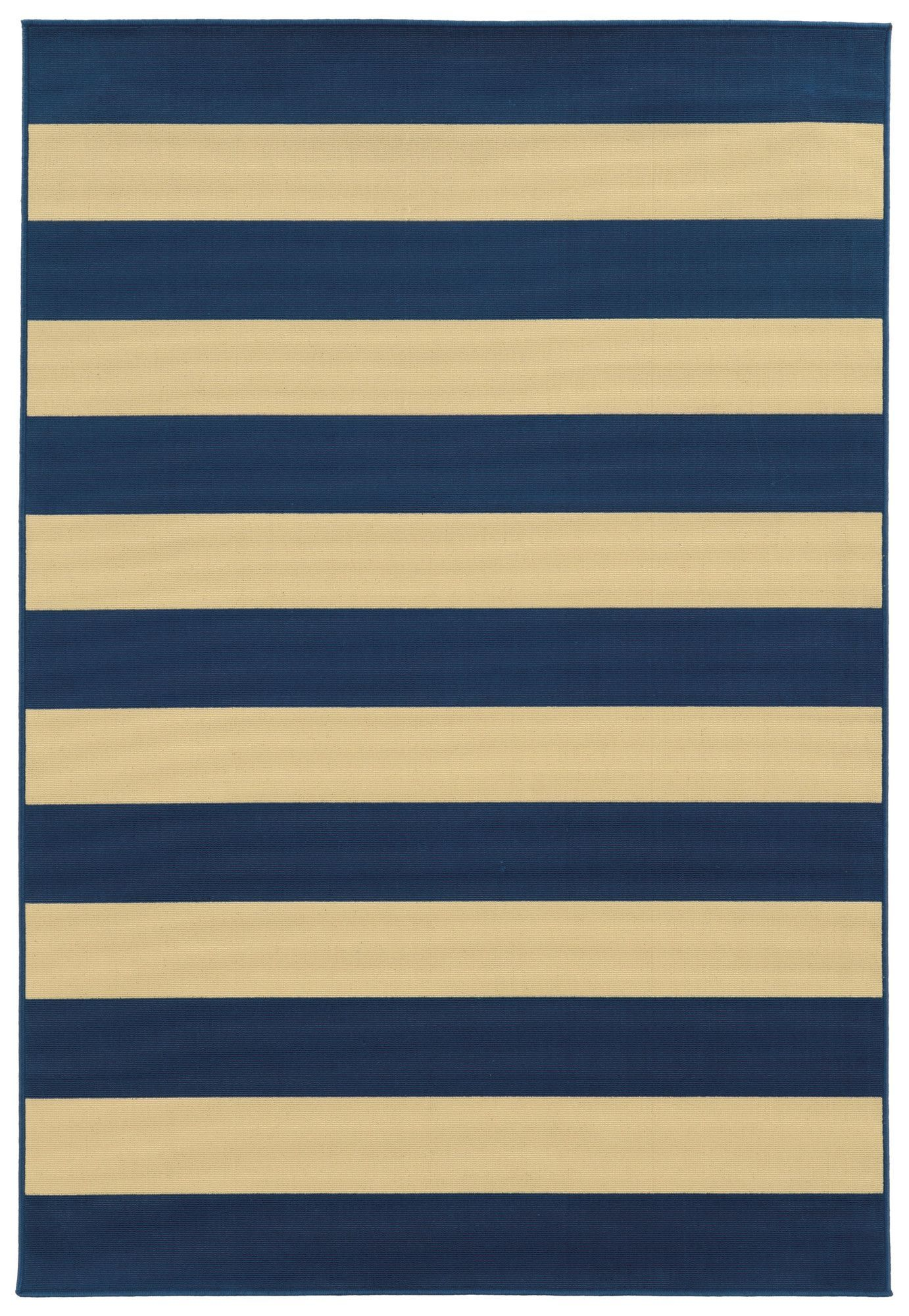 Alford Hand Woven Dark Blue Ivory Indoor Outdoor Area Rug Products