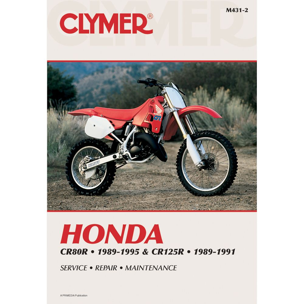 Clymer Honda Cr80r 1989 1995 Cr125r 1989 1991 Boat Parts For Less Clymer Honda Repair Manuals