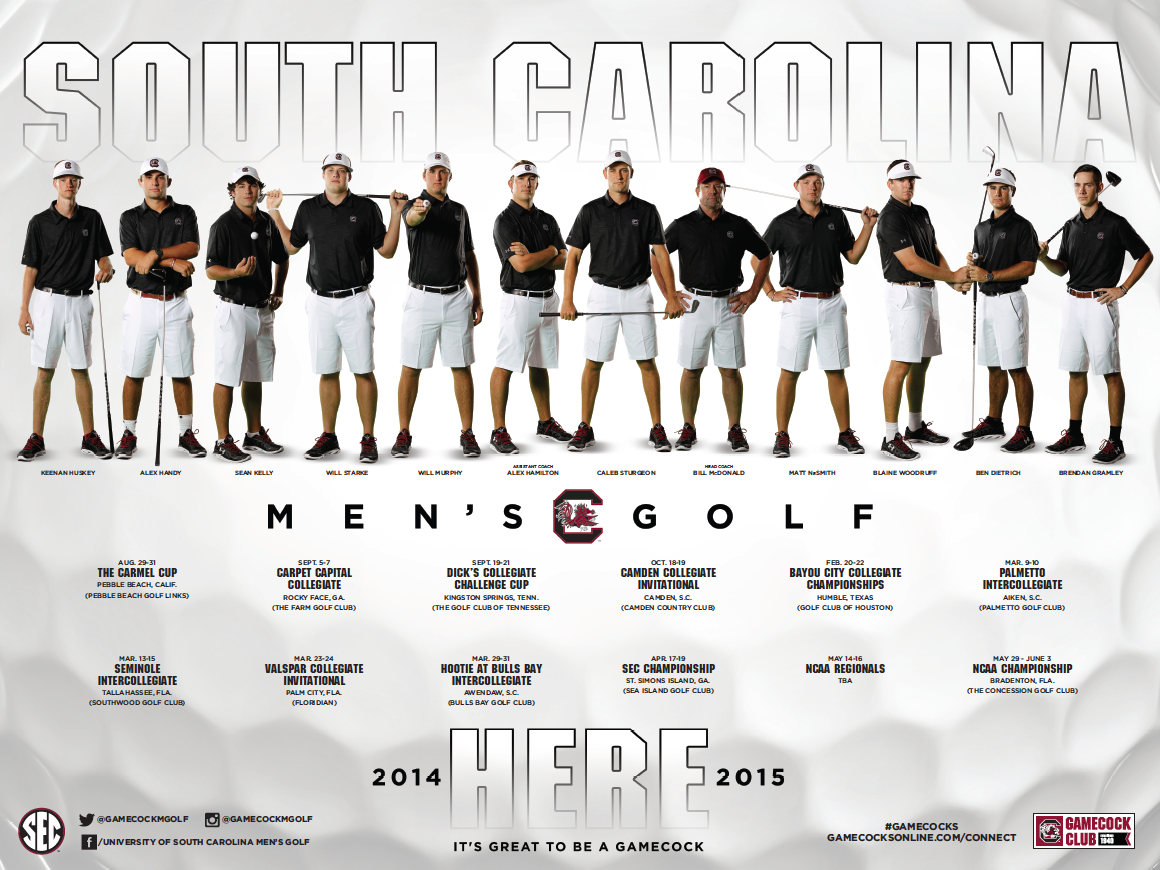 South Carolina Men's Golf Poster (2014-2015)