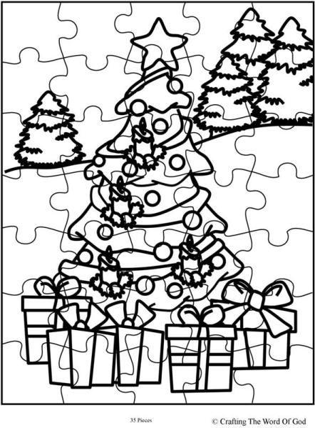 Christmas Puzzle 1 Christmas Puzzle Color Puzzle Christmas Jigsaws