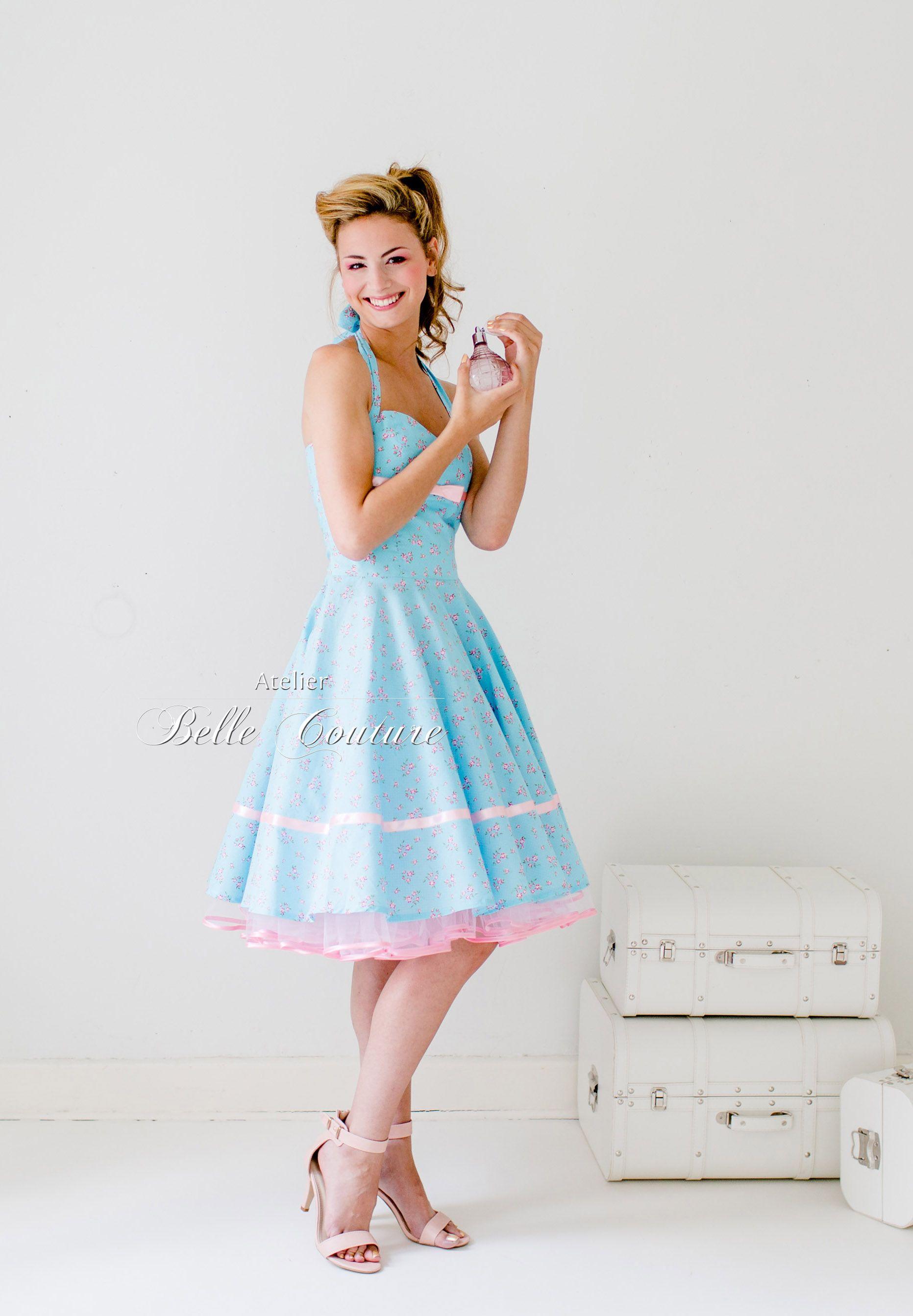 Atelier Belle Couture 50er Jahre Petticoat Kleid Rosa Pastell