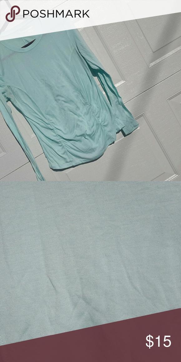 Ruched top aqua size L Long sleeves Marika Tops Tees - Long Sleeve