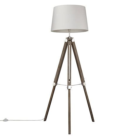 Buy Grey John Lewis Jacques Tripod Floor Lamp From Our Lamps Range At