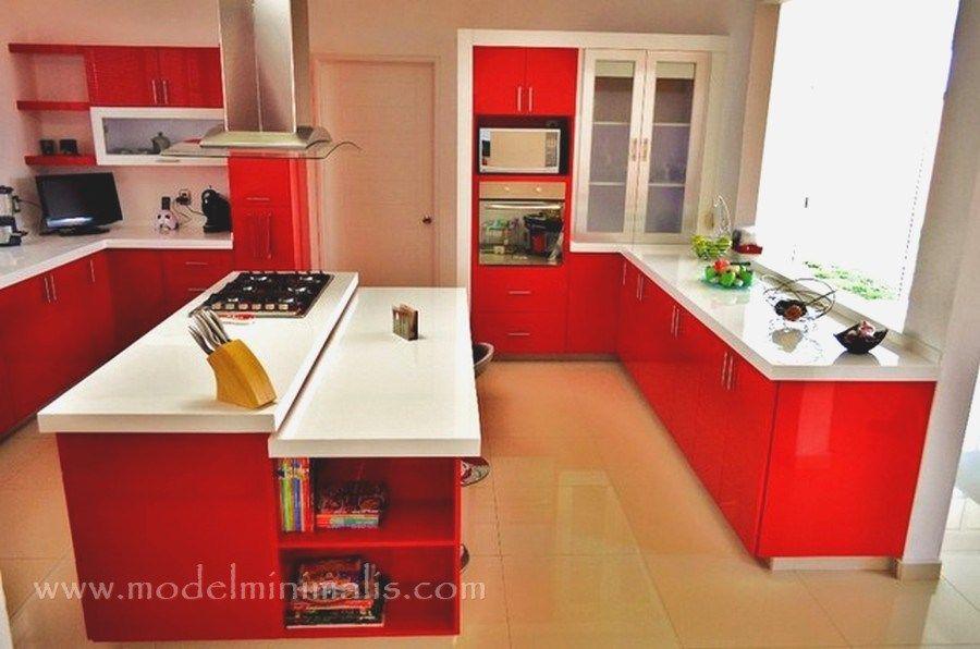 Model Kitchen Set Minimalis Warna Merah Terbaru Kitchen
