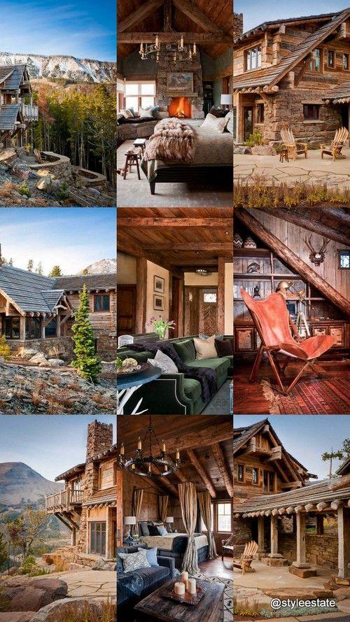 alpine custom log home dancing hearts montana styleestate rh pinterest com
