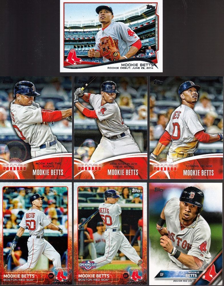 Details About Huge 60 Different Mookie Betts Cards Lot 4 Rc 2014