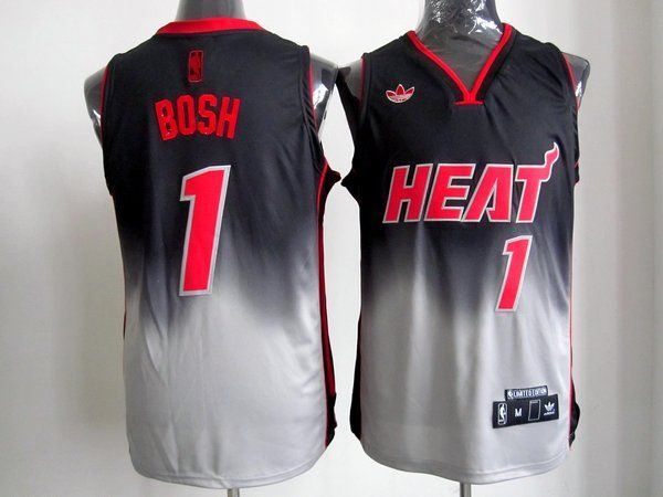 Adidas NBA Miami Heat 1 Chris Bosh Fadeaway Fashion Swingman Jersey ... 52c701e3e