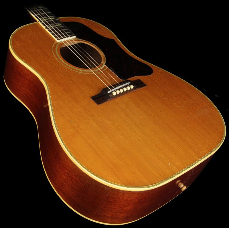 gibson vintage late 39 50 39 s country western southern jumbo acoustic guitar natural used. Black Bedroom Furniture Sets. Home Design Ideas