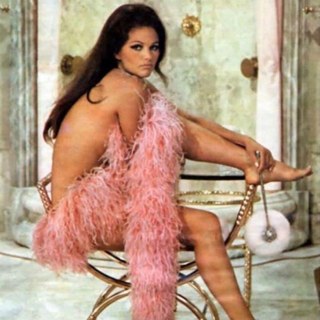 Retro Babe 60s 70s 80s 90s Pink Feathers Elegant ...