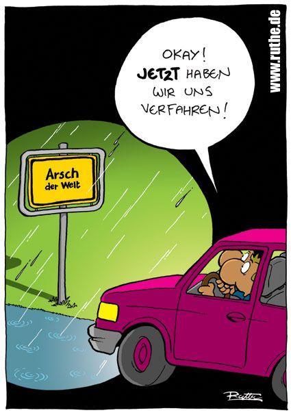 Nacht Schild Regen Arsch Der Welt Auto Verfahren Ruthe Ruthe