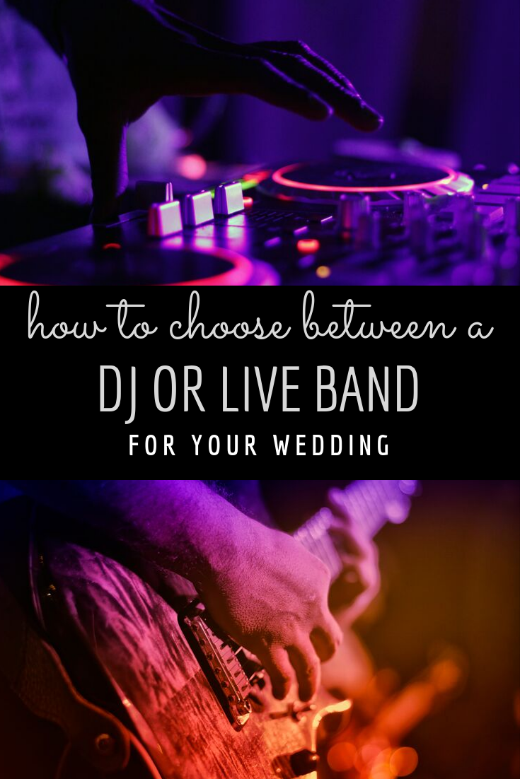 How to Choose Between a Wedding DJ or Live Band Wedding