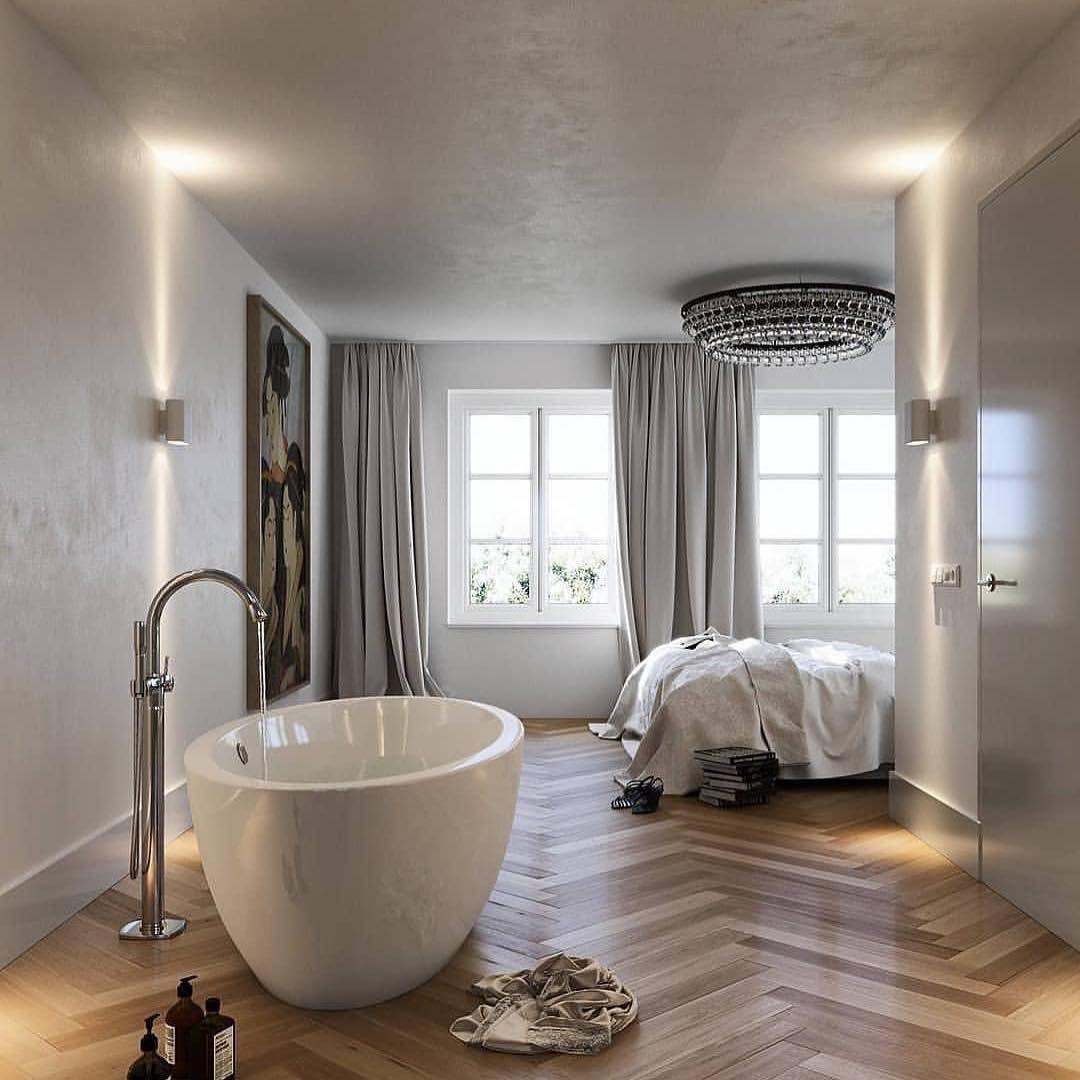 Goede Mooi vrijstaand bad in slaapkamer - Badkamer in slaapkamer KD-97