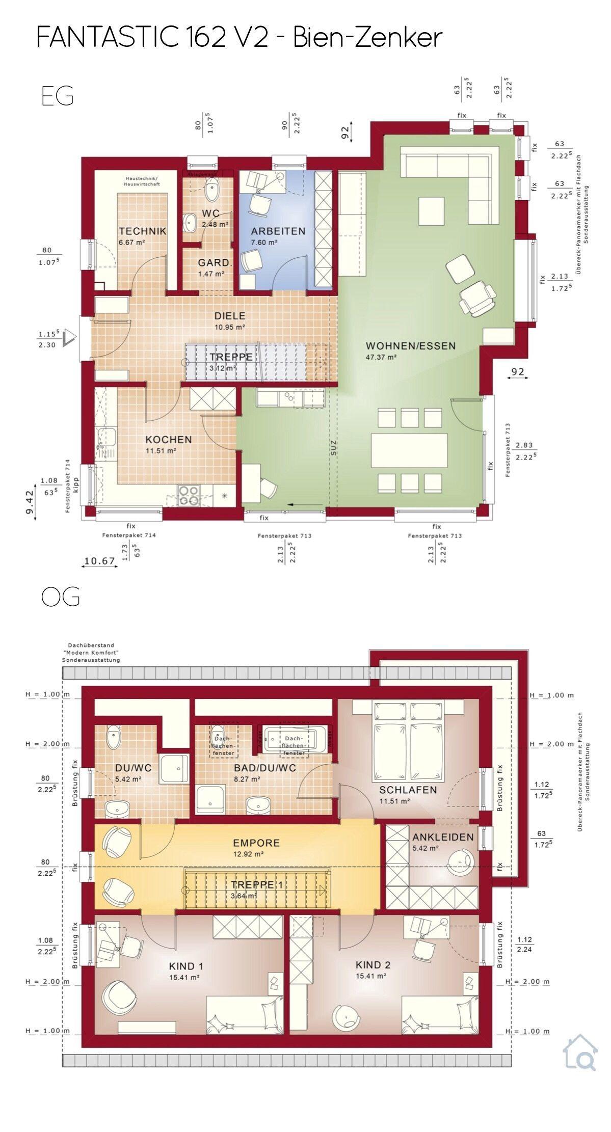 Grundriss Einfamilienhaus klassisch mit Satteldach 5