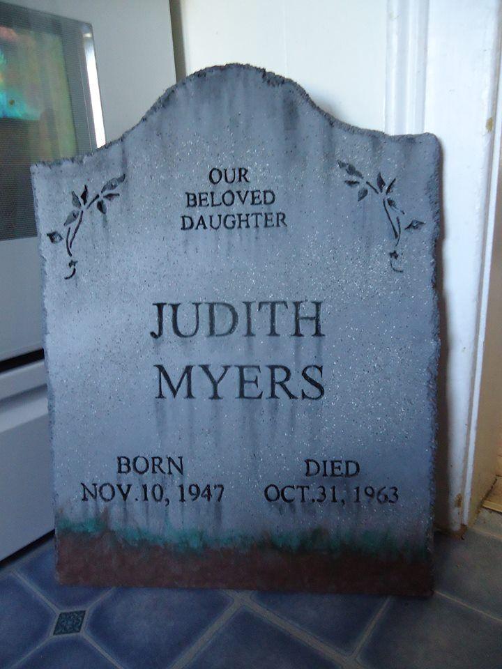 Halloween 2020 Is Judith Myers Judith Myers tombstone | Halloween tombstones, Halloween yard