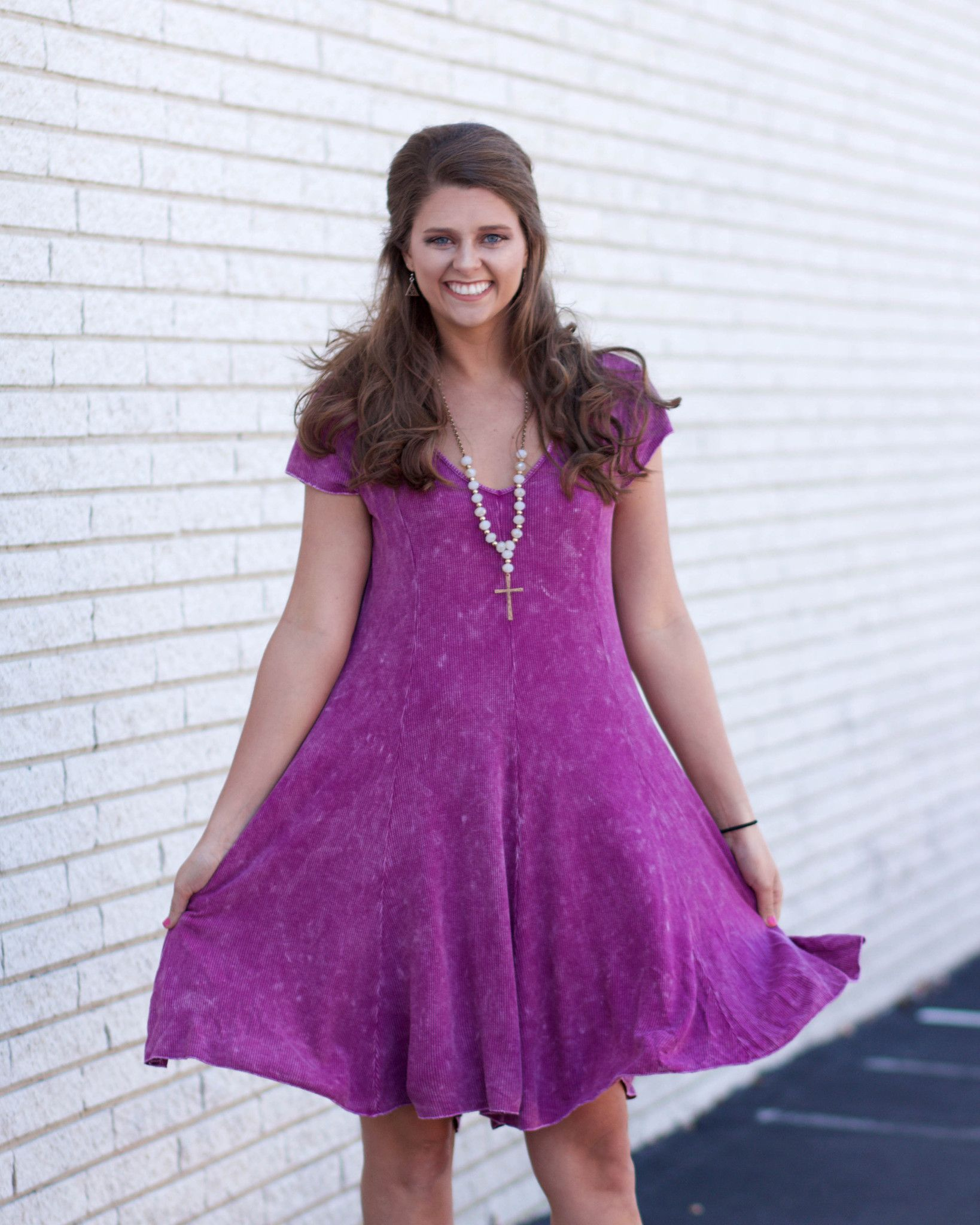 Let's Go Shopping Mineral Wash Dress