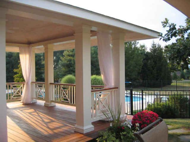Great Porch Screens Using Outdoor Mesh Curtains | Attachment Options