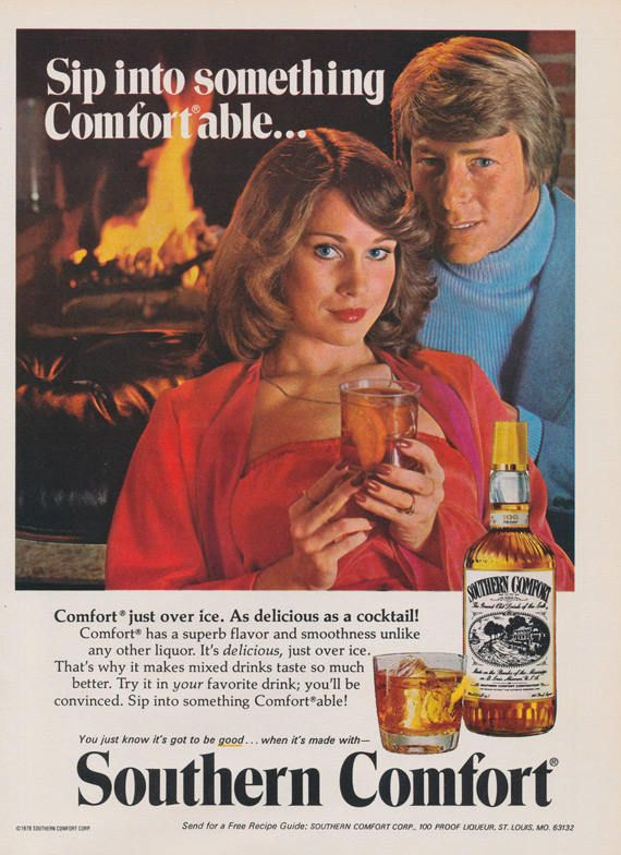 Southern Comfort Whiskey Vintage Liquor Advertisement 70s With
