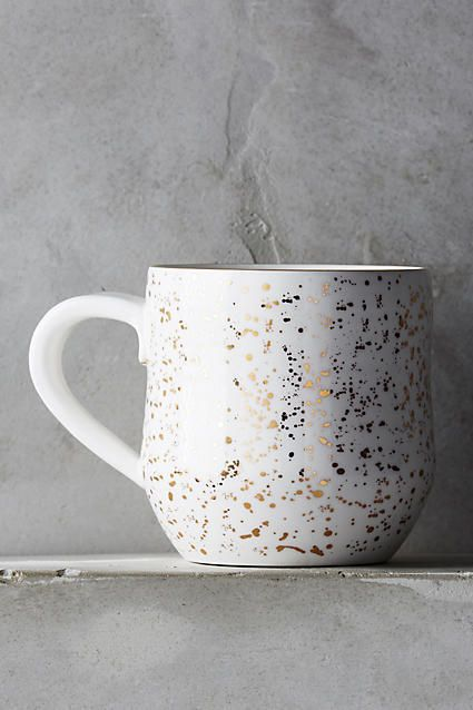 Suite One Studio Mimira Mug. Beautiful Ceramic Mug In Cream ,Pink ,Navy ,  Or Mint Finished With Flecks Of REAL Gold! Gorgeous Christmas Present.