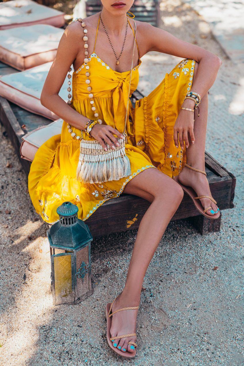 Korakia Pensione Vivaluxury Yellow Dress Summer Yellow Dress Greek Style Dress [ 1272 x 848 Pixel ]