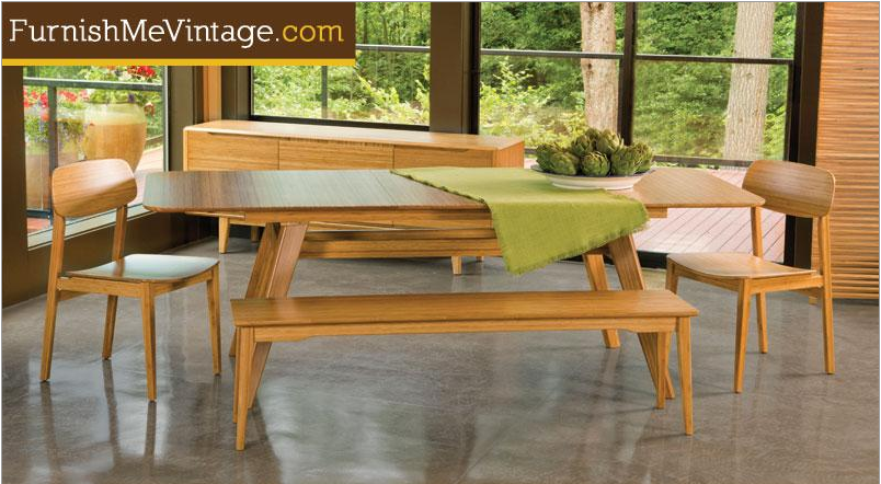 Greenington Currant Extension Dining Table Caramelized