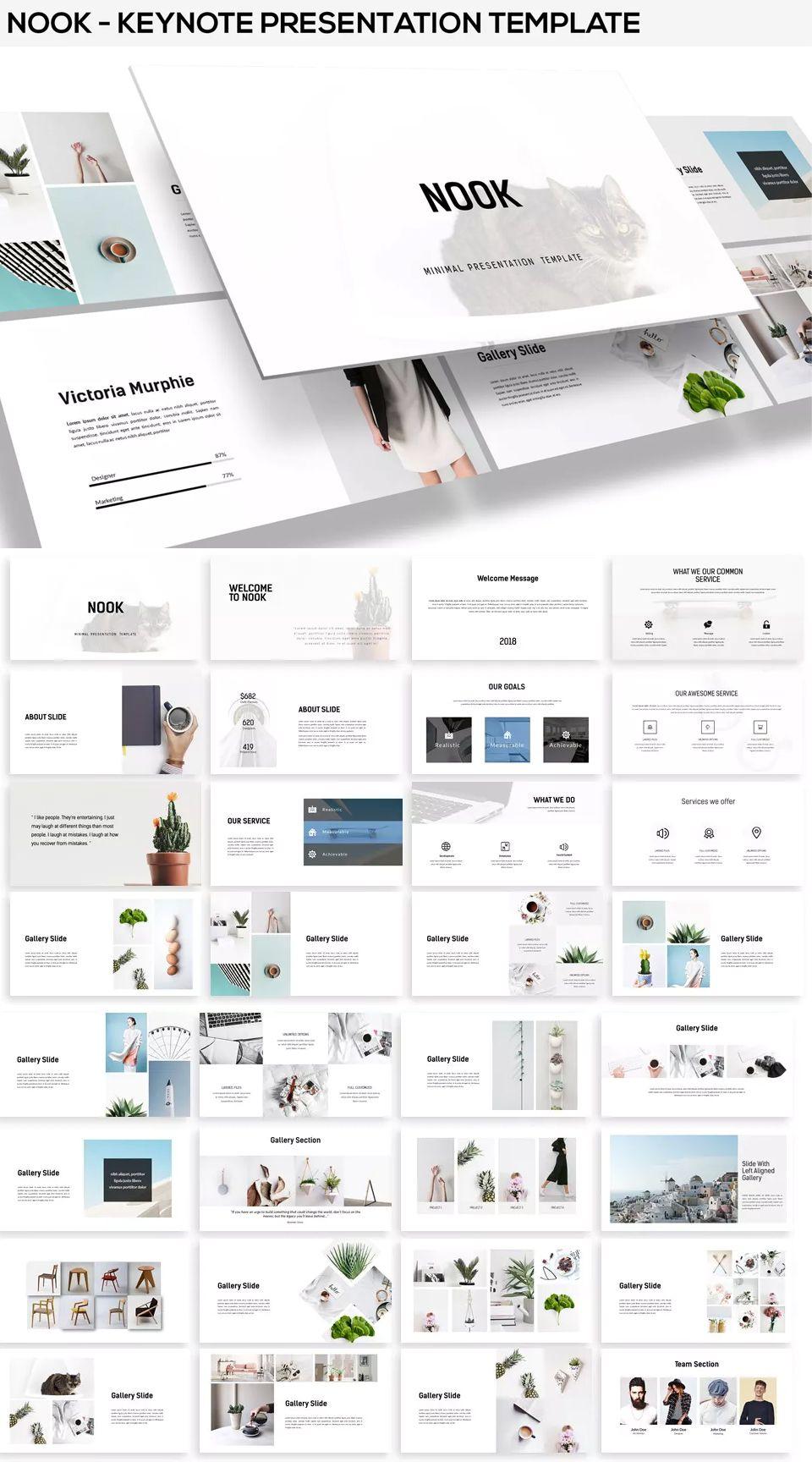 nook minimal keynote presentation template 45 multipurpose