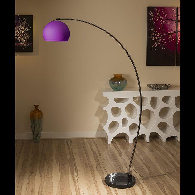 Lounge Retro Arco Standard / Floor Lamp / Light /Lighting Purple Glass