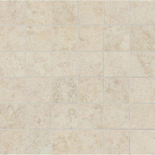 Mosaïque sol et mur Tivoli ecru Salle de bain Pinterest Ps and Vs - peindre le carrelage sol