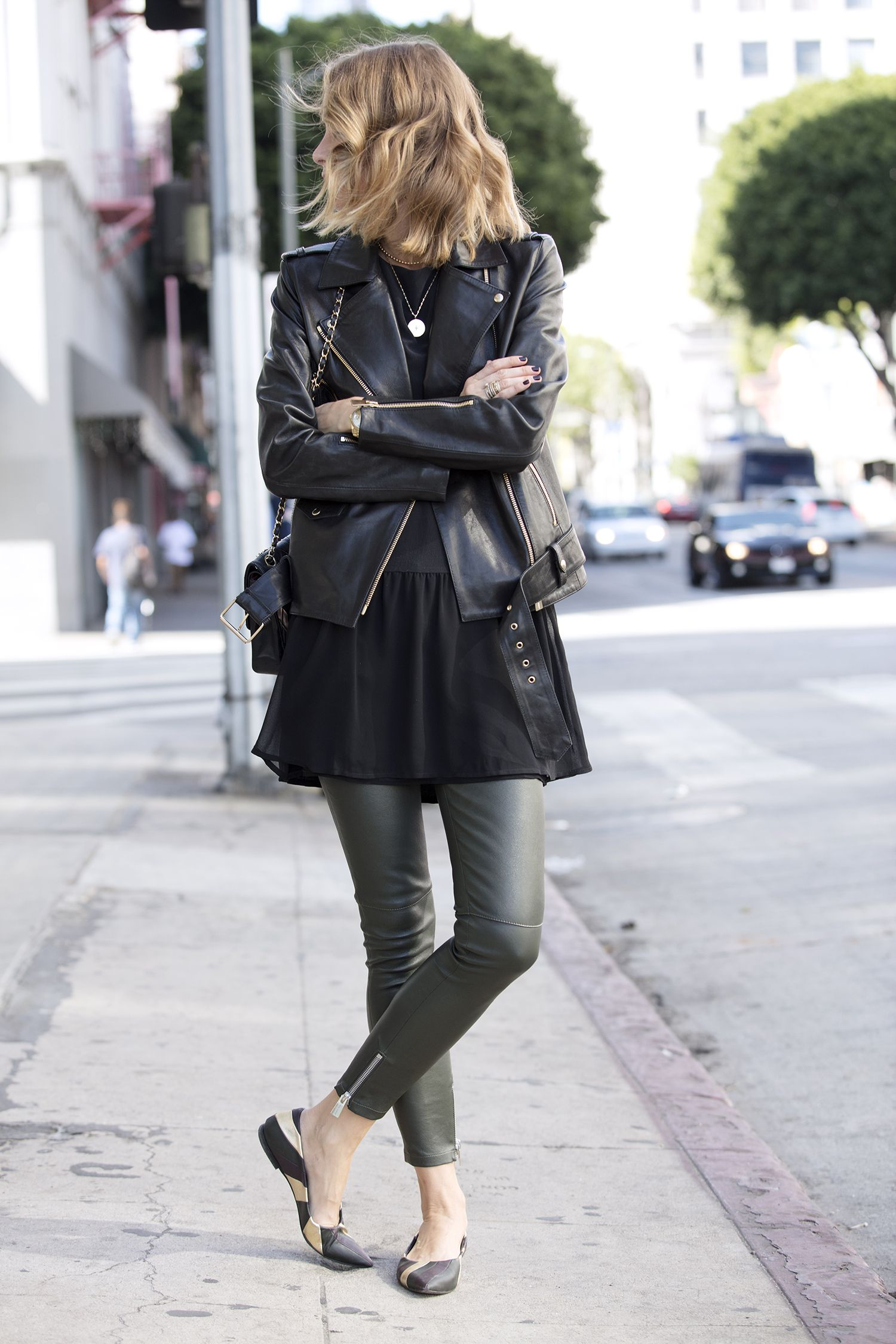 BREAK THE RULES IN LAYERS Leather jacket dress, Fashion