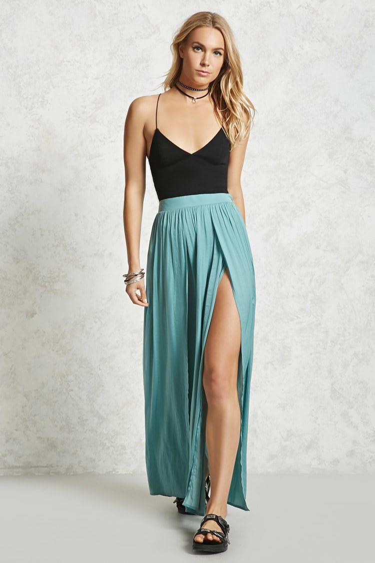 Contemporary Satin Maxi Skirt