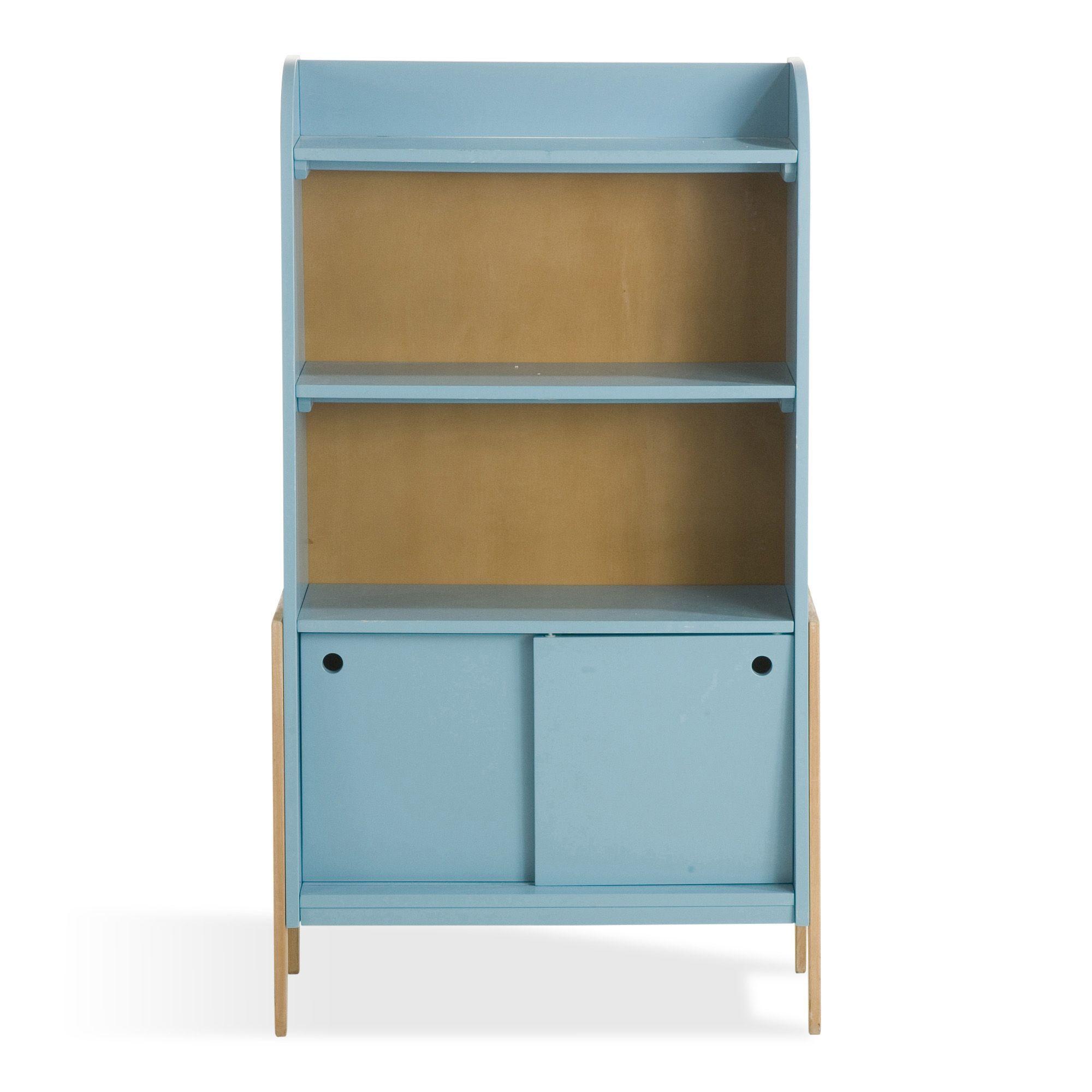 biblioth que vintage bleue pour enfant vintage tag res de chambre d 39 enfants meubles pour. Black Bedroom Furniture Sets. Home Design Ideas