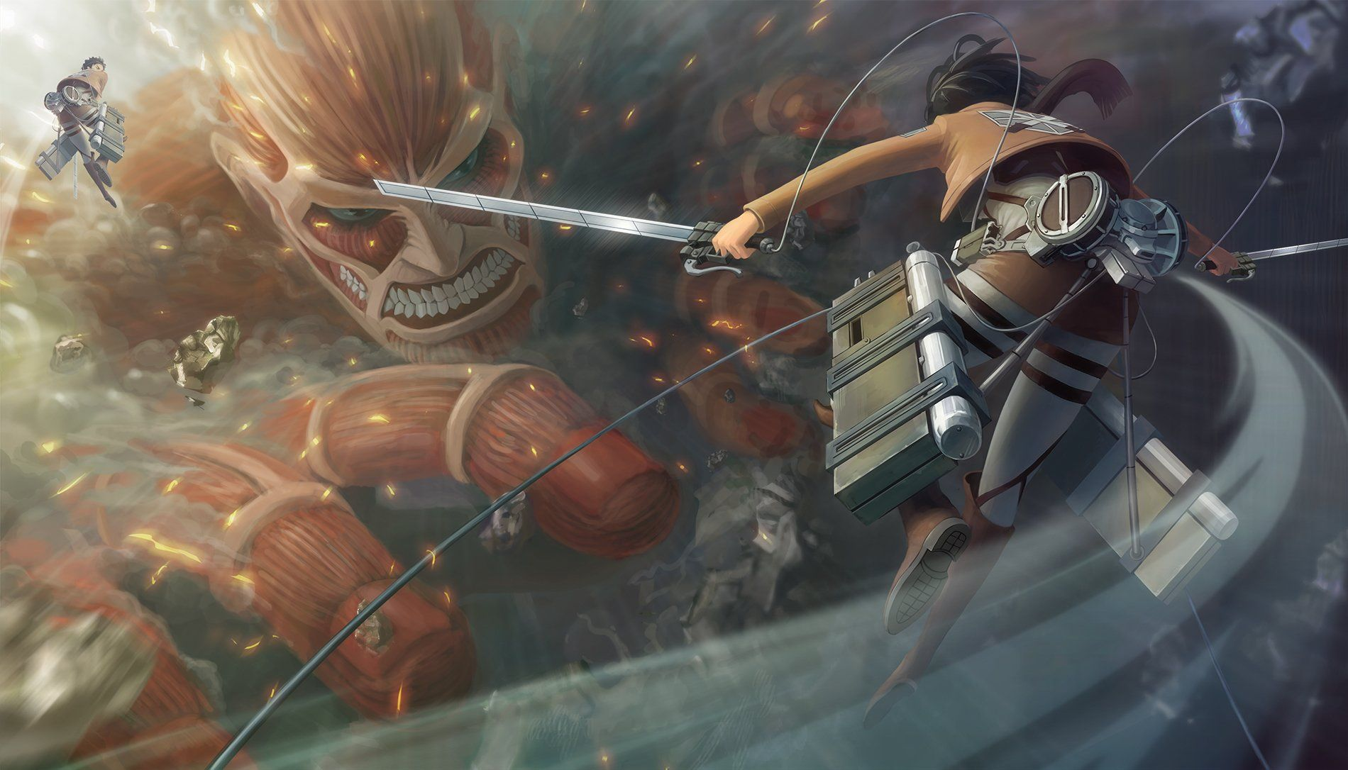 Anime L'Attaque des Titans Mikasa Ackerman Titan Shingeki