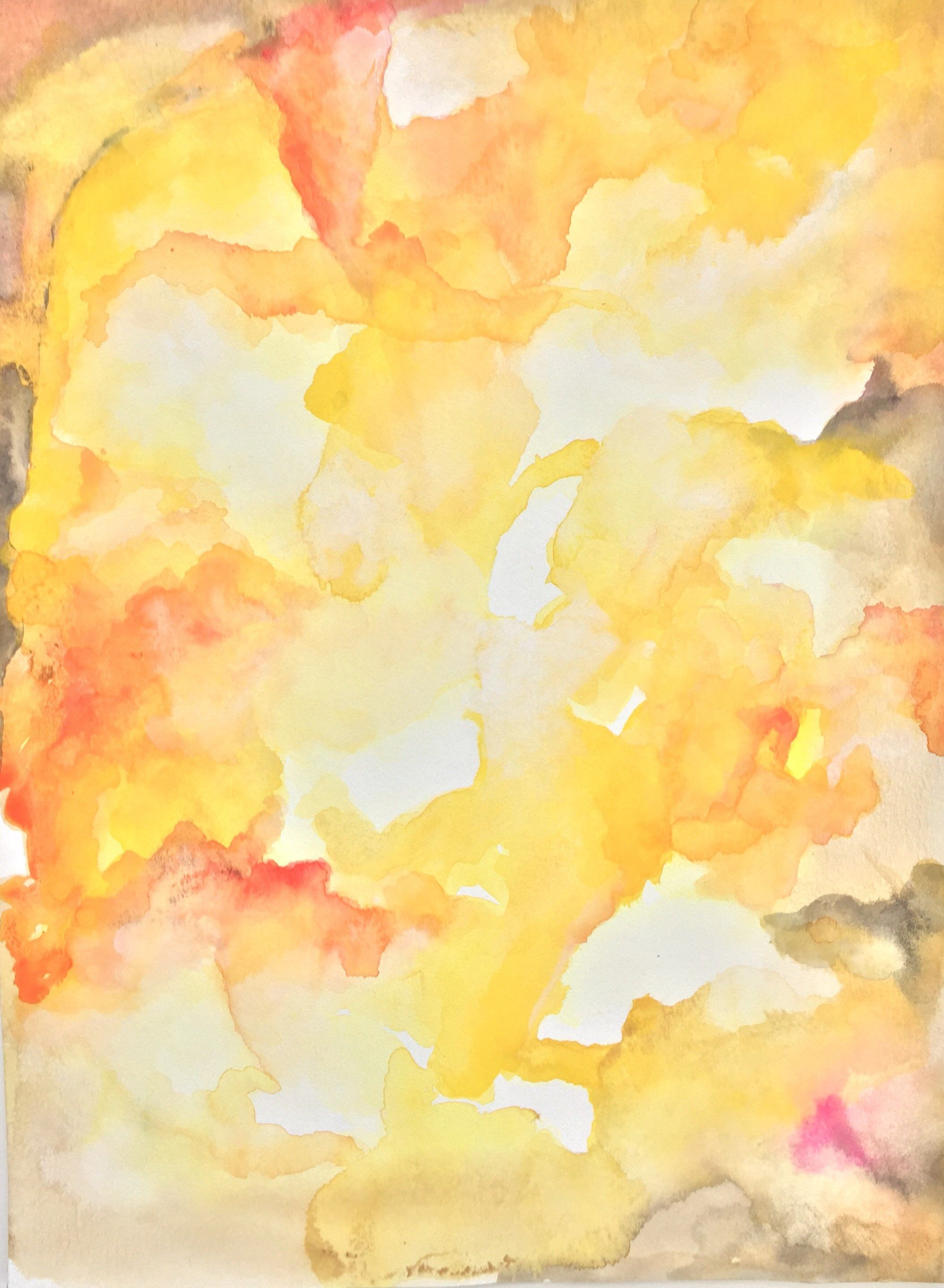Blinding Summer. Original, Affordable Watercolor Painting,Abstract ...