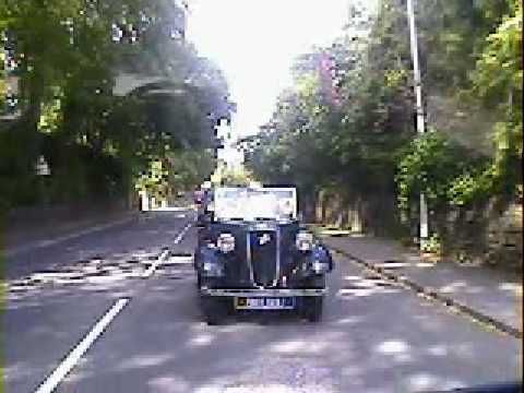 Lottie drives an Austin Baby 7 in 'I Stopped Time'