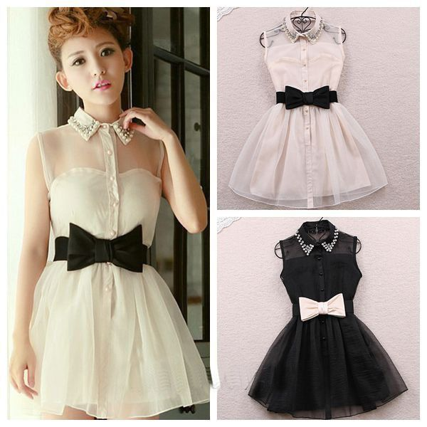 Korean White Formal Mini Dress