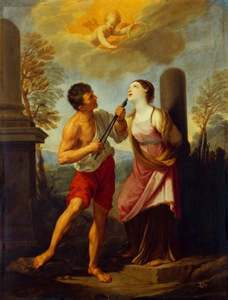 Martyrdom of St. Apollonia (Das Martyrium der heiligen Apollonia) c. 1632-33 by Guido Reni; Dresden (SKD), Germany