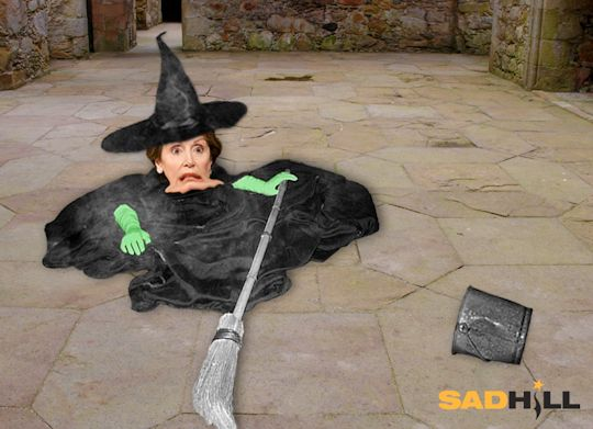Pics Of The Wicked Witch Melting Nancy Pelosi Faints In Italy