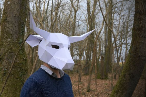 Build your own Bull Mask by Wintercroft, based in England and selling on Etsy #horns