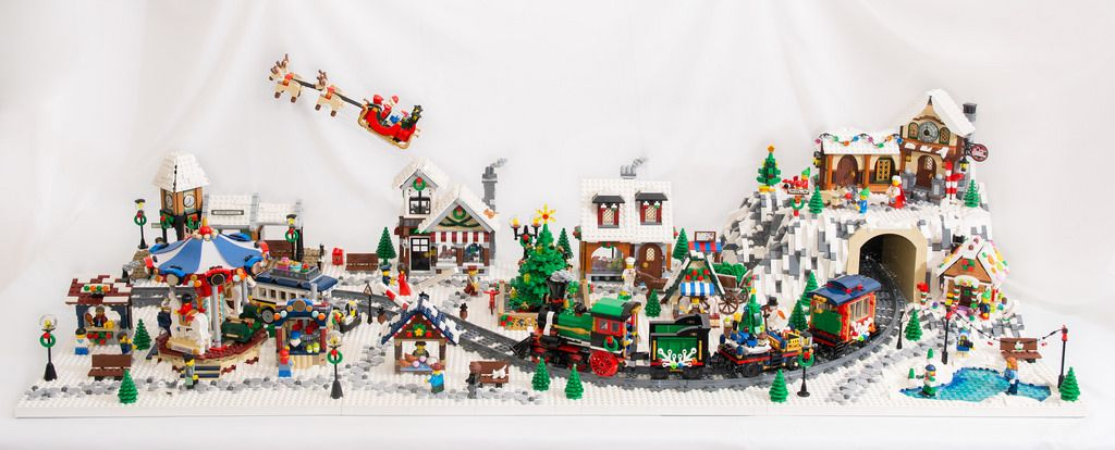 winter village diorama 2017 moc lego lego christmas village rh pinterest com