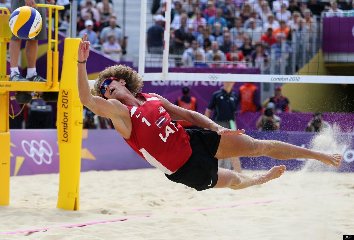 Aleksandrs Samoilovs Latvia Beach Volleyball 2012 London Olympics Olympics Olympic Table Tennis Beach Volleyball