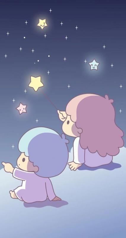Wall paper cute iphone kawaii little twin stars 50+ Ideas