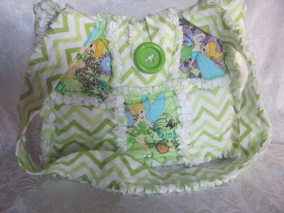Tinker Bell and Chevron Handbag/ Purse/ by morethanbearscrafts #purse #green