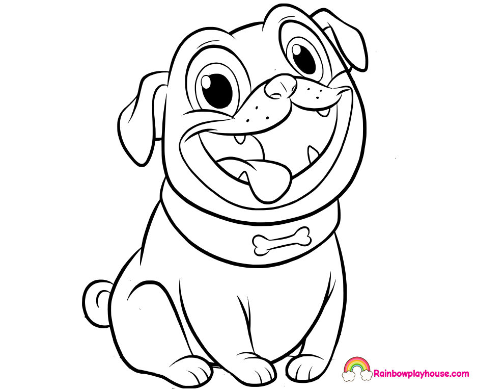 Puppy Dog Pals Rolly Printable Coloring Page Rainbow Playhouse Disney Coloring Pages Dog Coloring Page Disney Colors