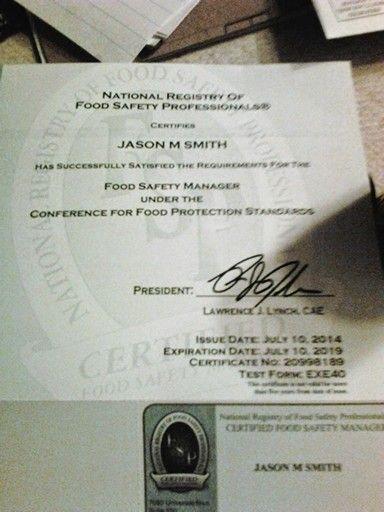 Serve safe certification serve safe Pinterest - food protection course exam answers