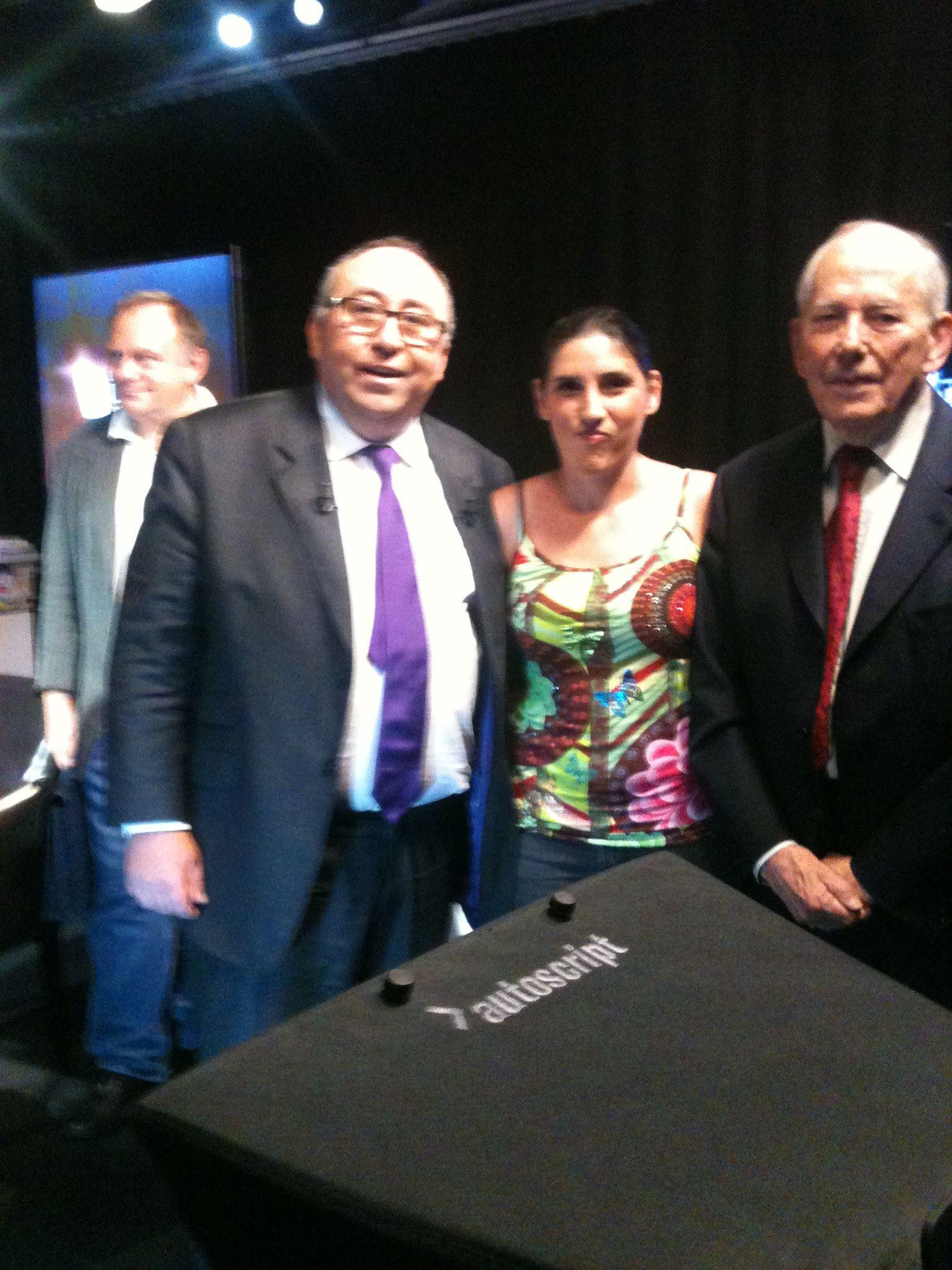 Avec Michel Camdessus et Emmanuel Lechypre sur le plateau de BFM TV