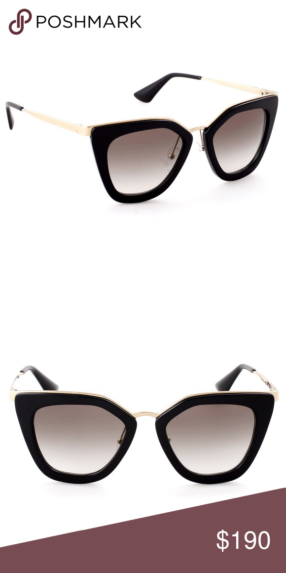 8e02a336acc1 Prada Cinema Sunglasses In Black Gold SPR53S1AB0A7 Prada is synonymous with  an understated style that has
