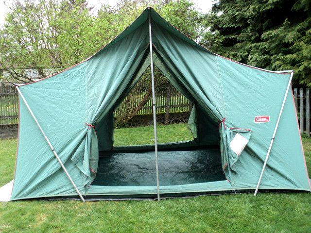 Old canvas tent. We used these Coleman tents too... it was our step up from the old army canvas tents. My mom found a snake in her bed on year. & Old canvas tent. We used these Coleman tents too... it was our step ...